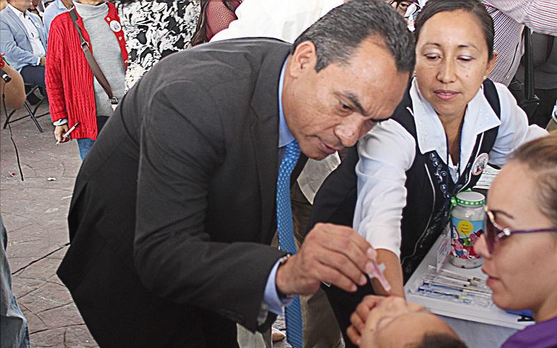 Durante los próximos días serán aplicadas 527 mil vacunas en las distintas regiones de la entidad.