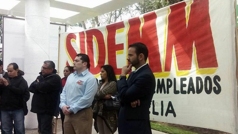 Benítez Silva manifestó su confianza en que hoy, o a más tardar mañana a primera hora, se levanten las tomas del SIDEMM en la Tesorería y la Secretaría de Administración (FOTO: MARIO REBO)