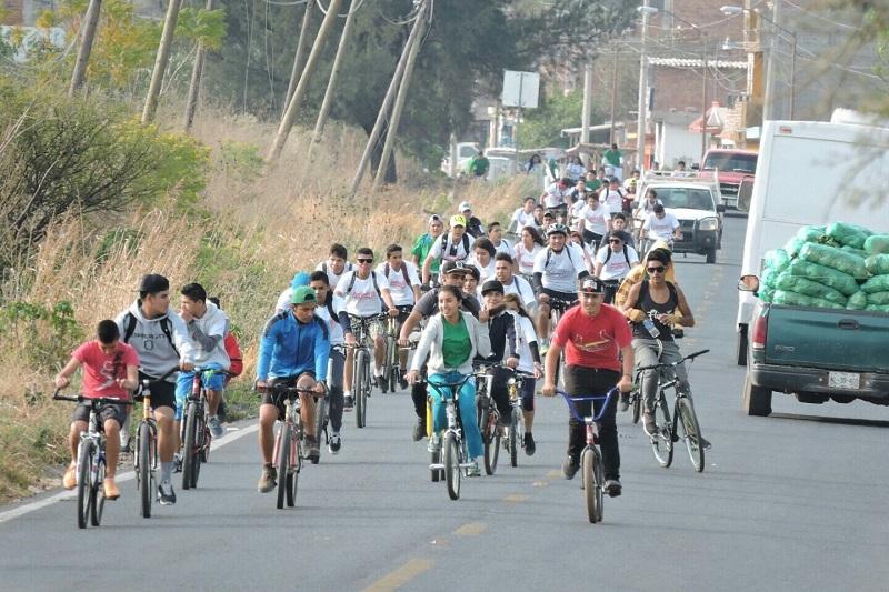 Los organizadores expresaron que cada vez se han sumado más alumnas y alumnos al paseo ciclista, por lo que consideraron se ha cumplido con el objetivo fundamental
