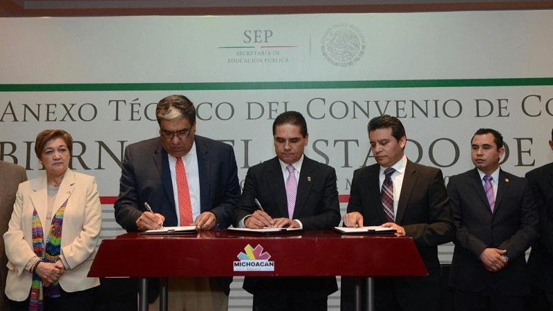 Silvano Aureoles destaca que la semana que concluye se emprendieron diversas acciones en materia educativa, lo que demuestra el compromiso de su gobierno en la materia