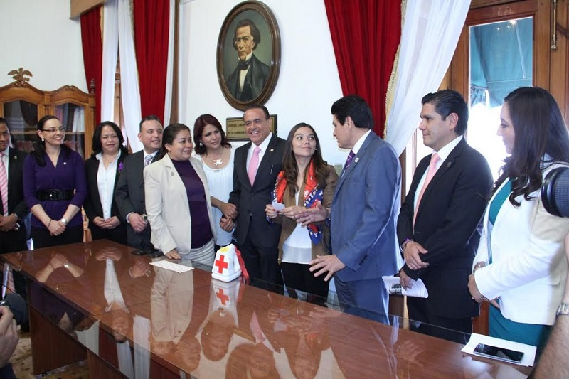 El Poder Legislativo de Michoacán colabora con esta noble causa