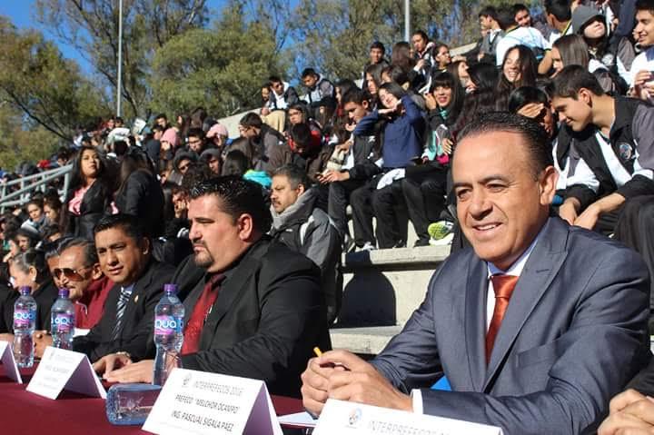 Sigala Páez atestiguó la Olimpiada Estatal de INTER-PREFECOS 2016, a quienes reconoció por su gran desempeño en el ámbito académico, cultural y deportivo
