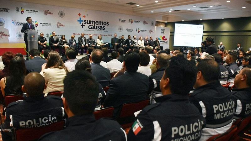 """Aureoles Conejo inauguró en Morelia el Foro """"Sumemos causas por la seguridad: Ciudadanos + Policías"""""""