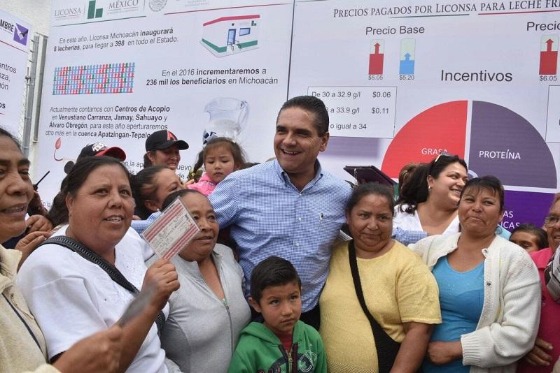 Aureoles Conejo se congratuló por las 10 medidas que se pondrán en marcha para fortalecer el rubro de la producción de leche