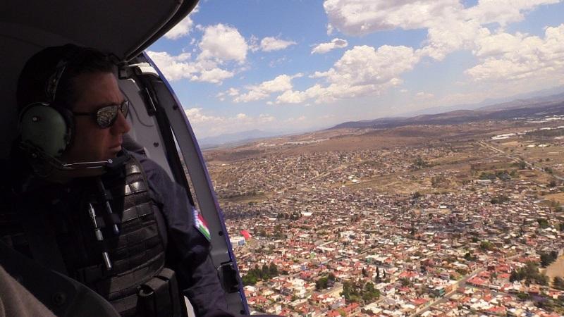 Con un sobrevuelo en las ciudades de Morelia, Pátzcuaro y Quiroga,  el secretario y subsecretario supervisaron que las actividades que realizan los paseantes se efectúen sin contratiempos