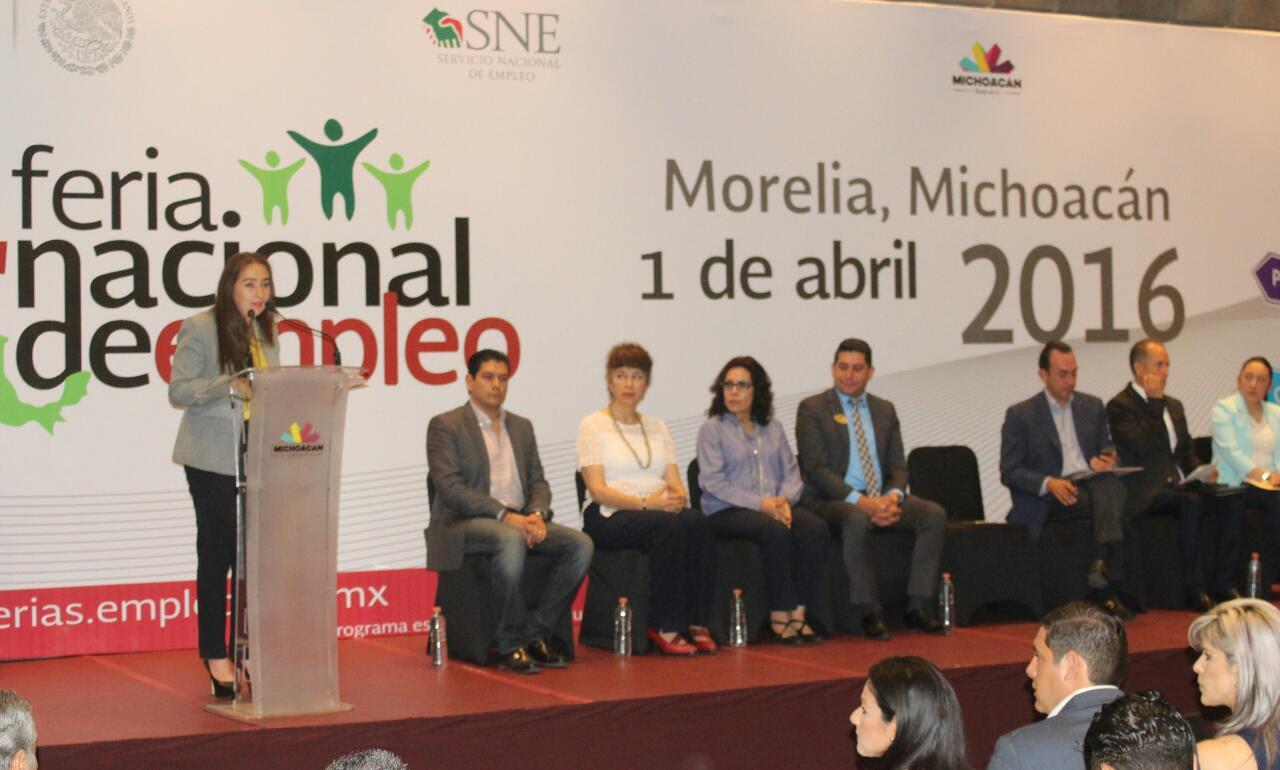 Se realizó en Morelia la Cuarta Feria Nacional del Empleo