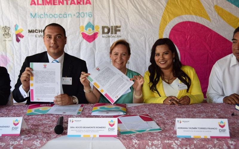 Rocío Beamonte indicó que gracias a la firma de Convenio se permitirá que sigan operando los programas alimentarios