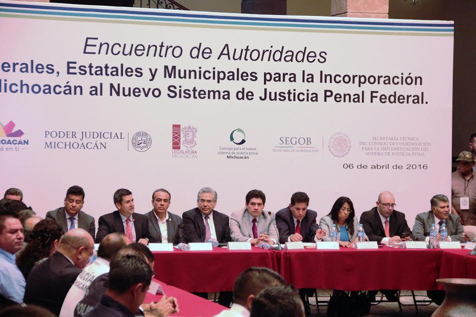 Realizan encuentro entre autoridades federales, estatales y municipales para incorporación de Michoacán al NSJP