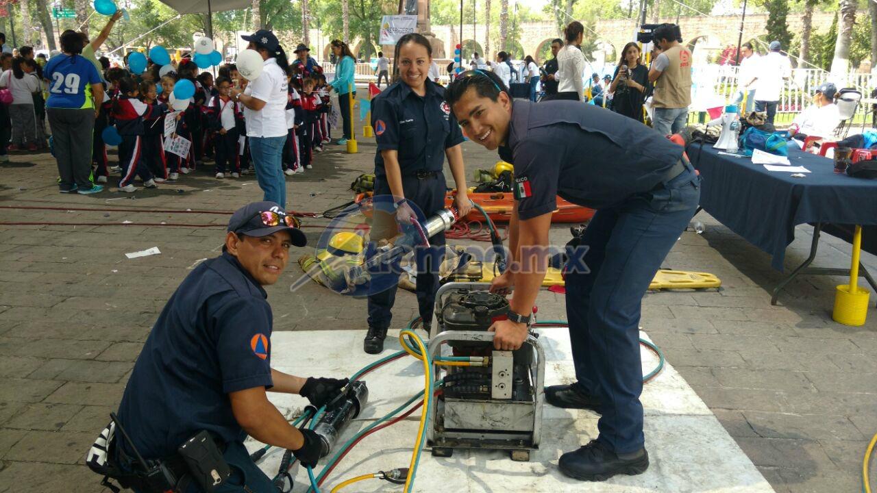 En el evento participaron elementos de Protección Civil estatal, de C-4, de la Cruz Roja y de la Dirección de Participación Ciudadana y Prevención del Delito (FOTO: FRANCISCO ALBERTO SOTOMAYOR)