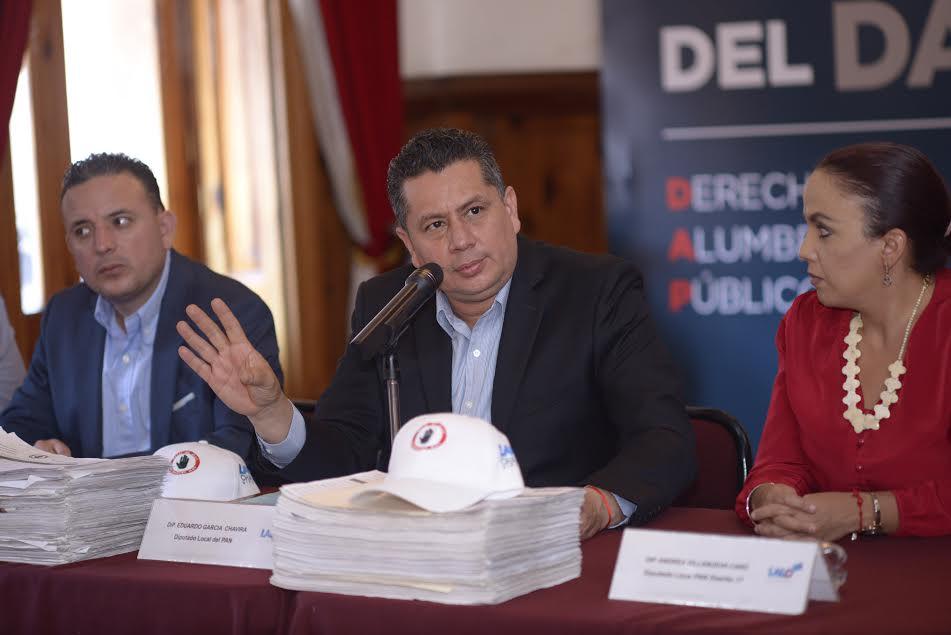 Eduardo García Chavira presentará el próximo 13 de abril ante el Pleno del Congreso la iniciativa para la eliminación del cobro del Derecho al Alumbrado Público