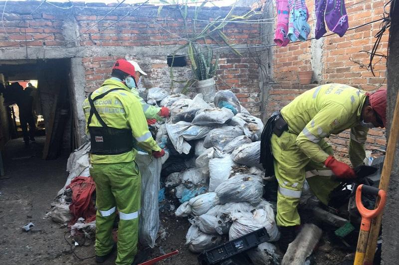 La Secretaría de Servicios Públicos levantó un acta circunstanciada tras localizar  un inmueble con caninos encerrados y en malas condiciones