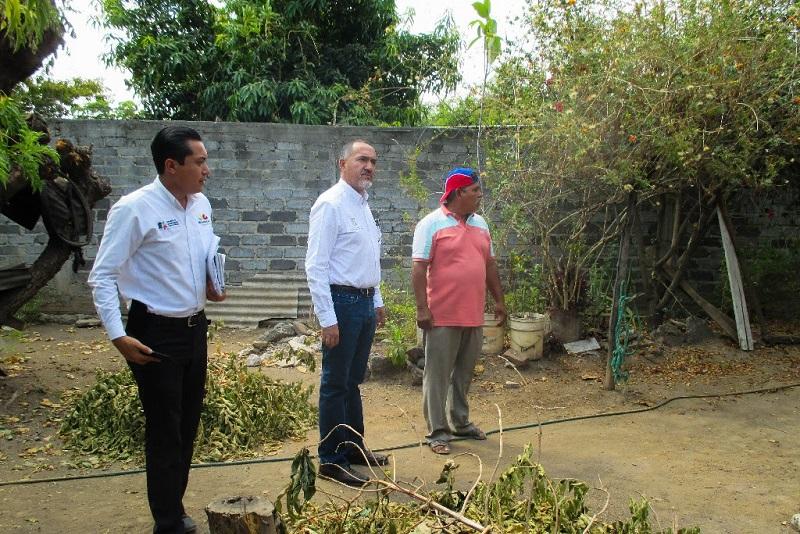"""En compañía del Jefe de Tenencia, Esteban Nava Torres, el funcionario estatal visitó la Primaria Rural Federal """"José María Morelos"""""""