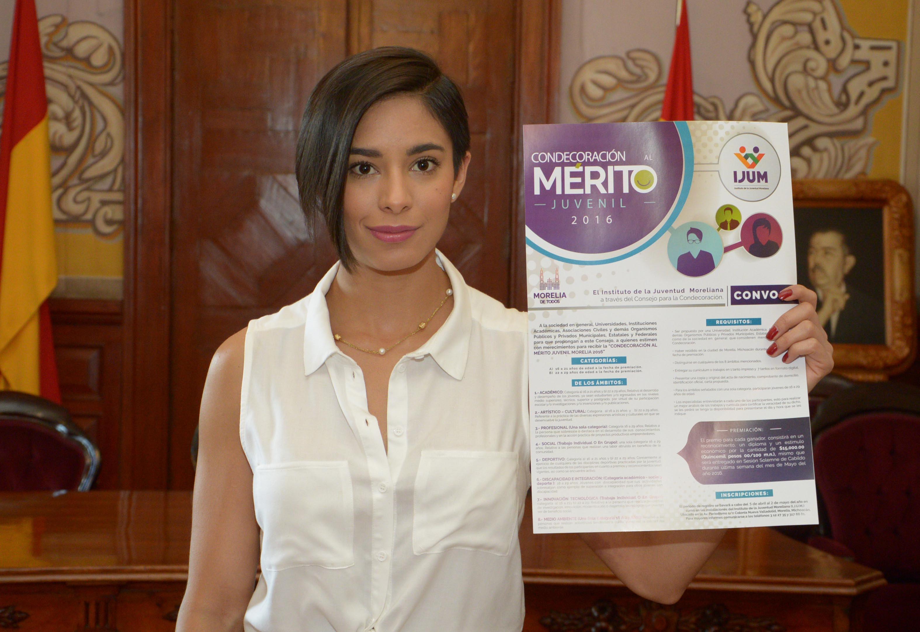 La directora del IJUM, Ana Cristina Prado, dijo que para el alcalde de Morelia, Alfonso Martínez, es de suma importancia reconocer y apoyar el desarrollo de todos aquellos jóvenes que realizan un esfuerzo diario