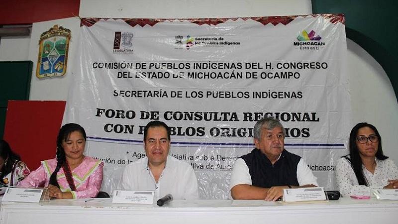 Ángel Cedillo explicó que entre las iniciativas prioritarias es la de Derechos Lingüísticos de los Pueblos Originarios de Michoacán