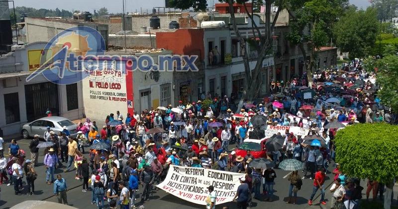 Una vez más, CNTE y FCS afectan actividades cotidianas en Morelia