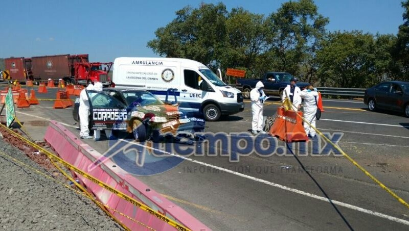 Los asaltantes huyeron del lugar con el tráiler, sin que hasta el momento se conozca el paradero del tracto camión, así como del chofer del mismo y los propios delincuentes (FOTO: FRANCISCO ALBERTO SOTOMAYOR)