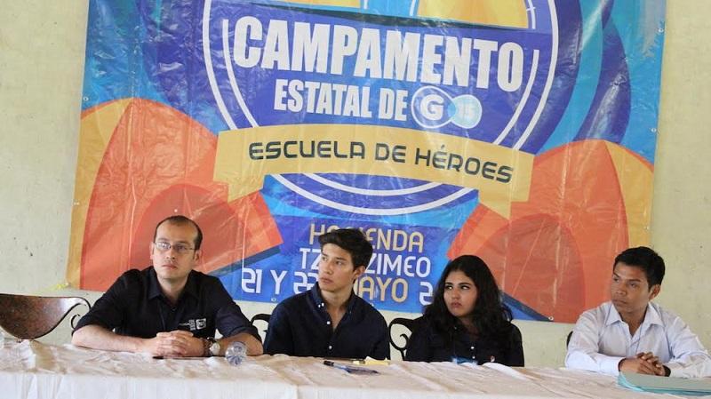 José Hildegardo Rodríguez, secretario estatal de Acción Juvenil, dio a conocer que este campamento de G15 es el primero que se organiza en Michoacán