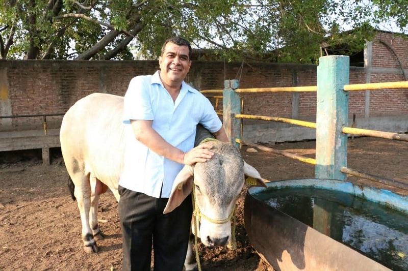 Elías Ibarra puntualizó que con los sementales se incrementará la calidad de este ganado y se logrará un mejoramiento genético, lo cual se traduce en beneficios para las y los ganaderos del municipio
