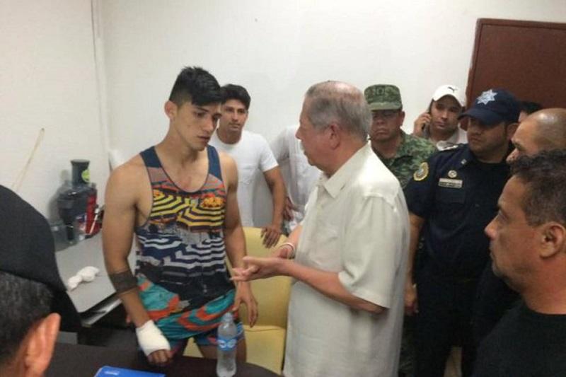 Sin dar detalles sobre la forma en que lo rescataron, extraoficialmente se conoció que Fuerza Tamaulipas trasladaron a uno de los responsables a un hospital de la ciudad