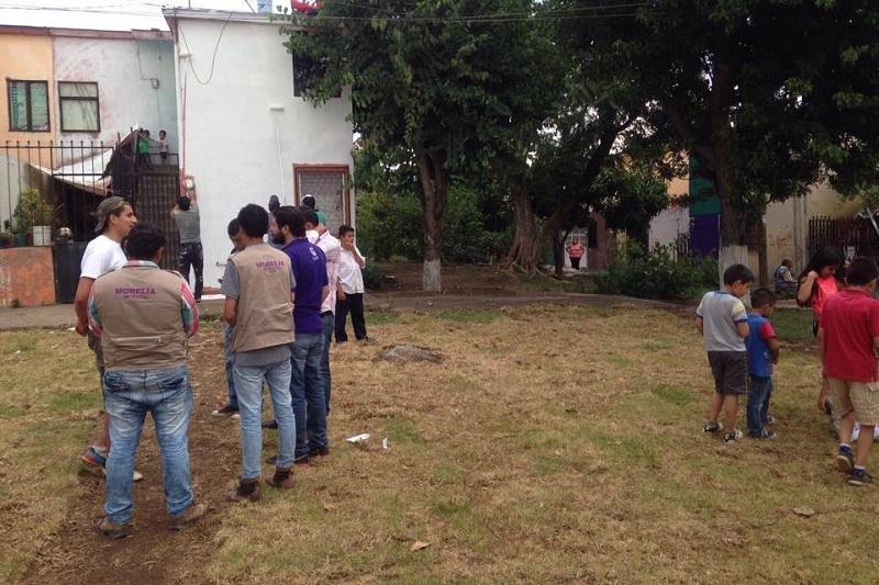 En breve se entregará a los vecinos, un espacio en mejores condiciones, que permita el fortalecimiento del tejido social y dignifiqué esta zona de la capital de Michoacán