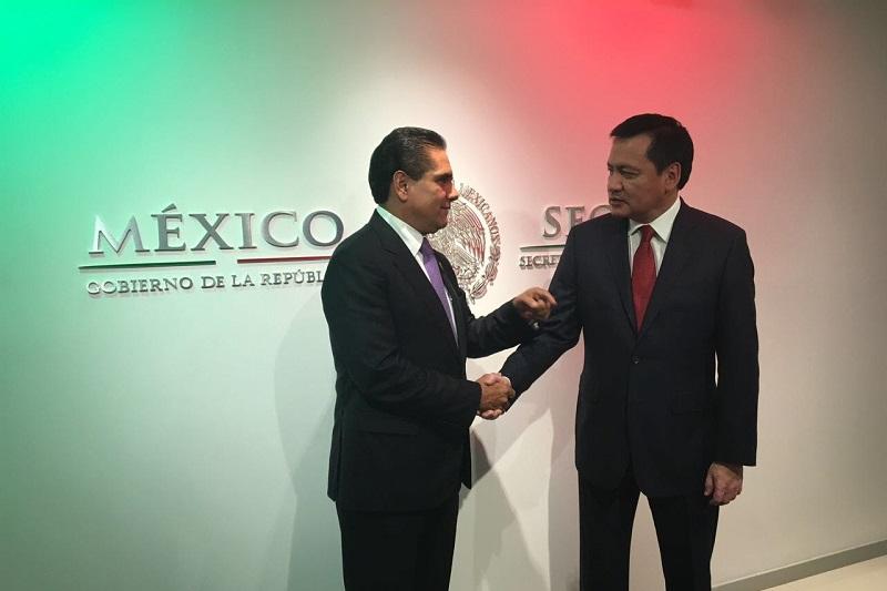 Aureoles Conejo y Osorio Chong afinaron los detalles de la próxima visita del funcionario federal a nuestro estado, con motivo de la declaratoria de alerta de género