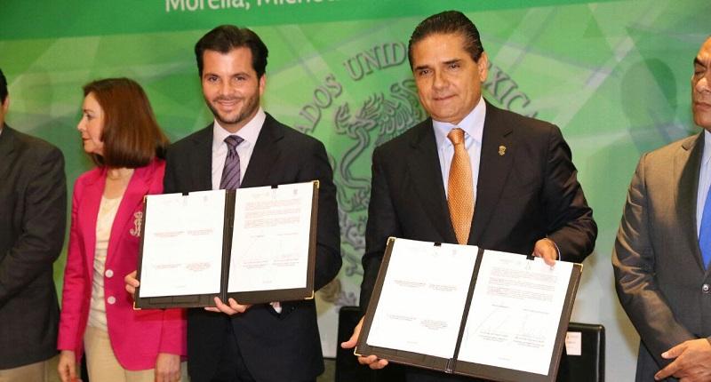 Rafael Pacchiano, titular de Semarnat, calificó a Aureoles Conejo como un gobernador ambientalista, que tiene interés en el cuidado de la riqueza natural de Michoacán