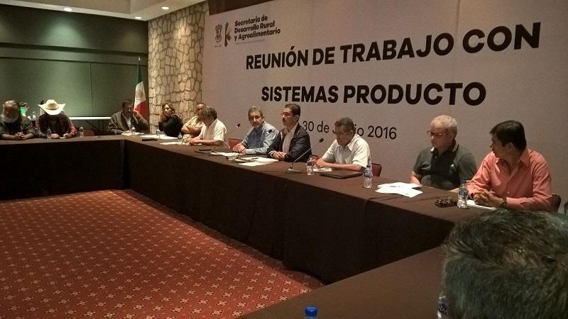 Tentory García ofreció también una mayor coordinación con los Sistema Producto a fin de fortalecer el trabajo en rubros como la sanidad y la productividad