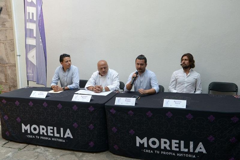 Jorge Alarcón, organizador y Armando Prats director de Mesa de Chef invitaron a los morelianos para acudir el próximo 15 al 17 de julio a este festival que reúne lo mejor de la gastronomía