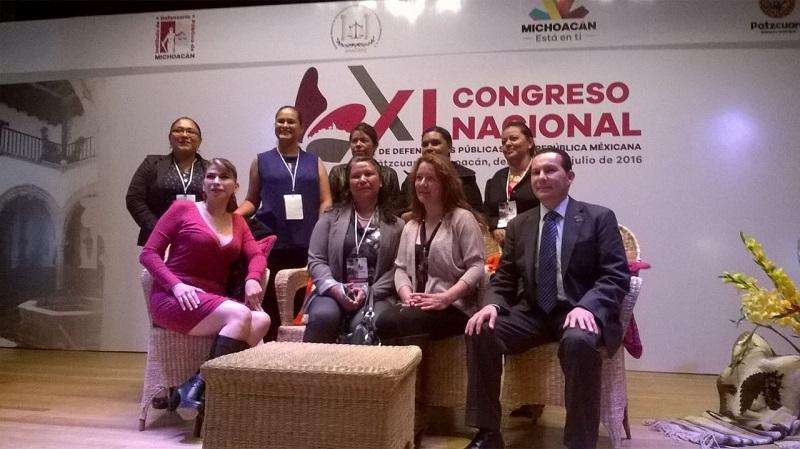 Edgar Hugo Rojas, director general del Instituto de Defensoría Pública de Michoacán, en su mensaje de despedida a los asistente, manifestó la importancia de compartir las experiencias, y la importancia de la capacitación continua de los juristas