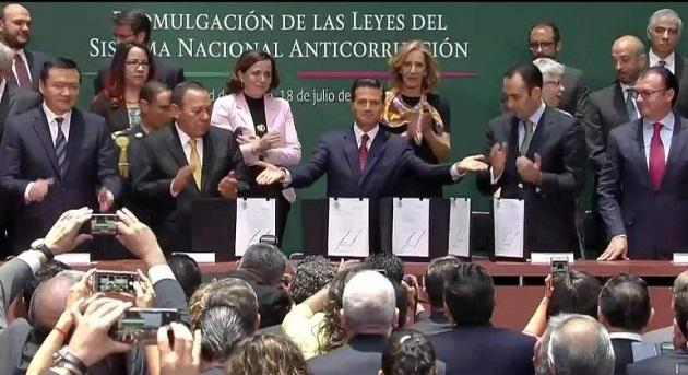 Durante la promulgación del Sistema Nacional Anticorrupción, el presidente Enrique Peña Nieto pidió perdón por el caso de la 'Casa Blanca'