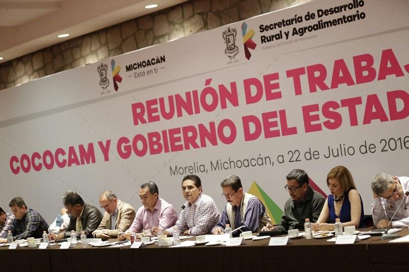Aureoles Conejo refrendó su interés por impulsar al campo michoacano, construir alternativas y trabajar en coordinación con las organizaciones del sector