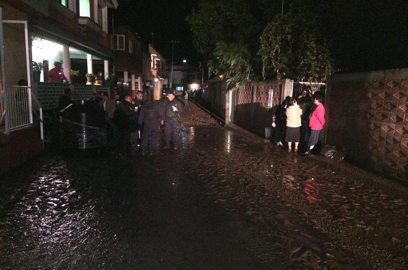 Informa Protección Civil estatal que se coadyuvó a fin de atender a 18 viviendas con inundaciones y más de una treintena con encharcamientos