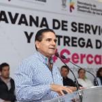 El mandatario inauguró las Caravanas de Servicios Integrales #CercaDeTi en el municipio de Sahuayo