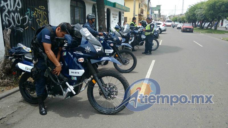 Los policías estatales son encabezados por el subsecretario de Seguridad Pública, Carlos Gómez Arrieta (FOTOS: FRANCISCO ALBERTO SOTOMAYOR)