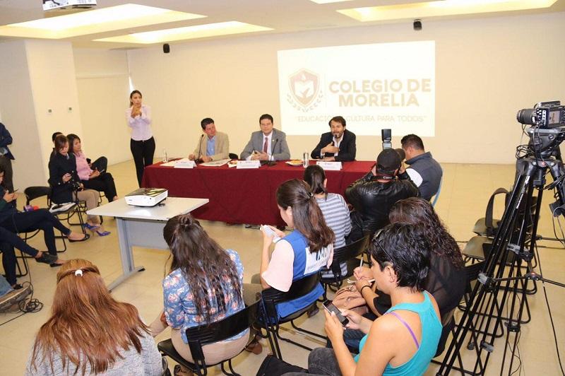 La convocatoria estará abierta a partir de este miércoles 17 al miércoles 24 de agosto y las bases podrán consultarse en las páginas de internet www.colegiomorelia.gob.mx y www.morelia.gob.mx