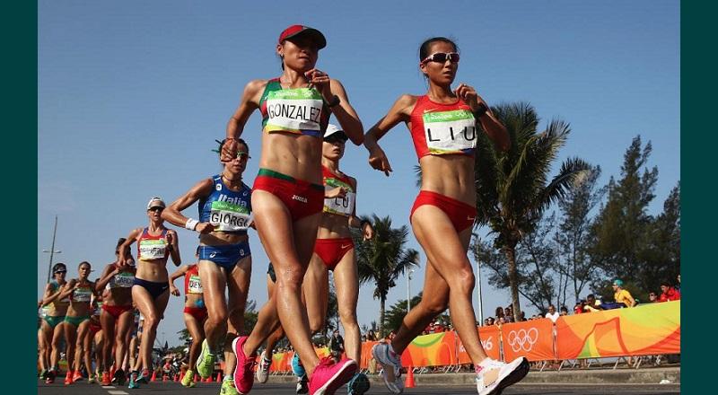 A falta de dos kilómetros, la mexicana tomó la punta y el grupo de tres atletas junto con Liu y Lu y aspi se mantuvieron hasta el cierre de la prueba, que fue ganada por Liu