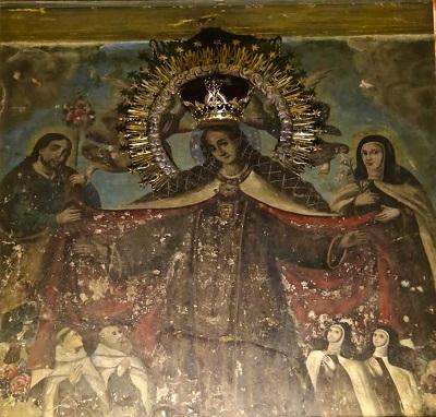 A principios del presente mes, comenzaron los trabajos de rehabilitación de la imagen de la Virgen del Carmen