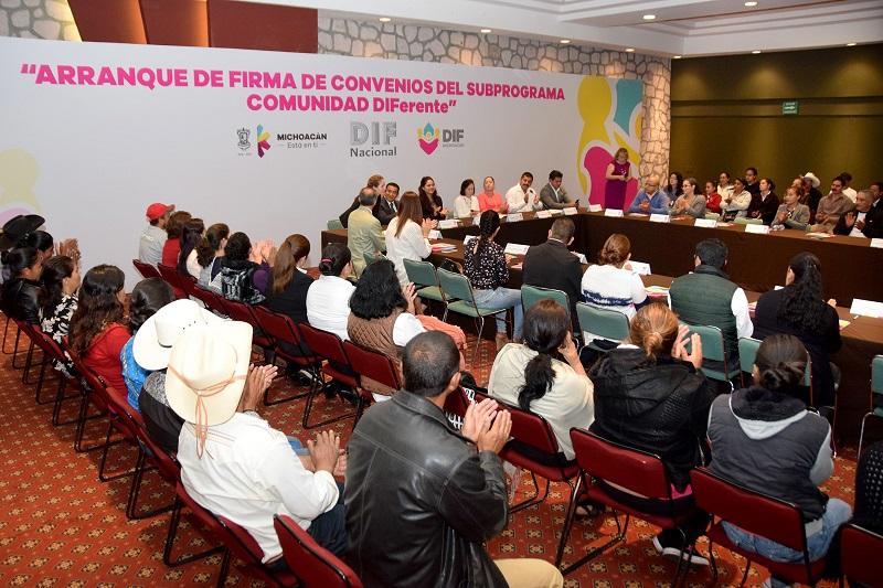 Las regiones Morelia Norte y Morelia Sur iniciaron con la firma, en total  se suman 47 municipios al subprograma