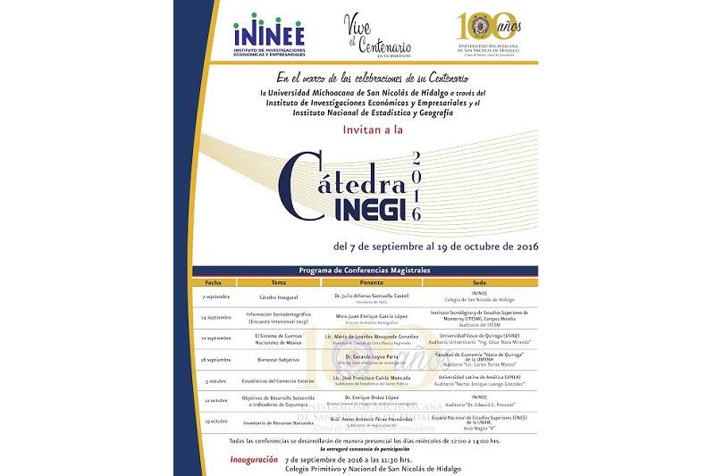 Se impartirán siete conferencias sobre temas prácticos de Estadística y Geografía a cargo de especialistas del Instituto
