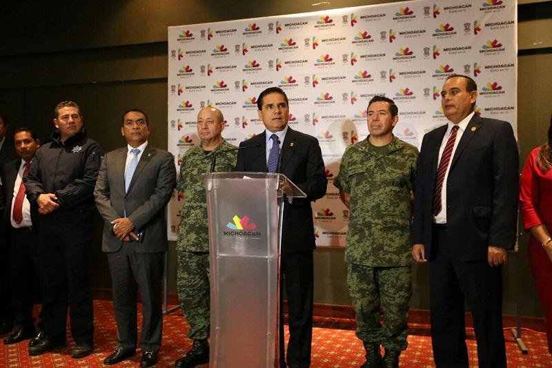 El titular del Ejecutivo estatal dirigió esta noche a las y los michoacanos en relación a las acciones operativas realizadas este martes en las regiones Tierra Caliente y Sierra Costa