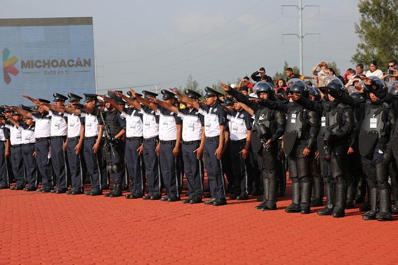 La segunda fase de reclutamiento permitió que en el mes de abril la Secretaría de Seguridad Pública contara con mil 220 aspirantes a integrar las filas de la Policía Michoacán