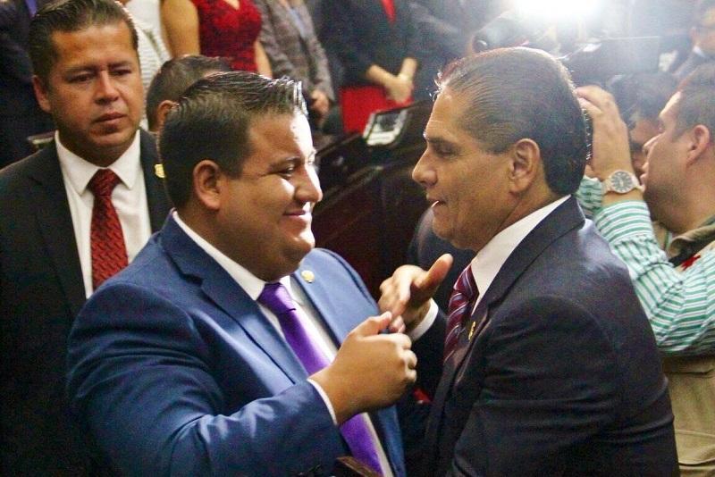 """""""Hoy tenemos certeza de quien gobierna en Michoacán, tenemos obra pública, apoyos sociales, unas finanzas más sanas, se percibe mayor seguridad, se sabe que hay un Gobernador en Michoacán"""", señaló Puebla Arévalo"""