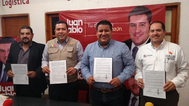 Puebla Arévalo, resaltó la buena coordinación existente con el ICATMI, al que reconoció como un instituto sólido, en desarrollo y que ha crecido sustancialmente gracias a la buena dirección de Barragán Vélez