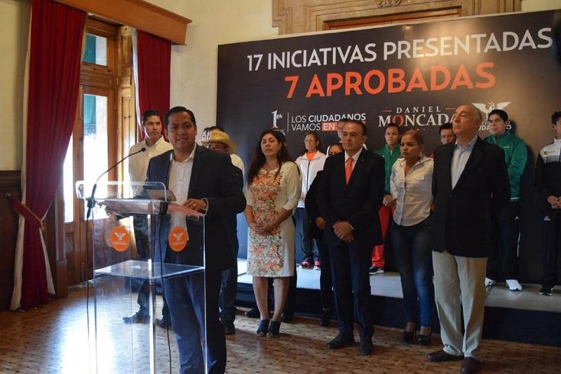 Destaca Moncada Sánchez que de 17 iniciativas que presentó 7 ya han sido aprobadas