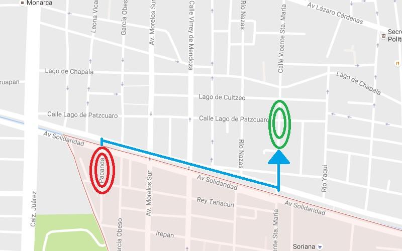El menor salió de su casa en la calle Pacanda, de la colonia Félix Ireta, y fue localizado en la esquina de las calles Lago de Pátzcuaro y Vicente Santa María