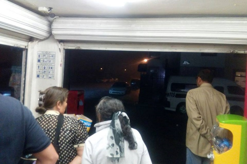 Cabe hacer mención de que la precipitación pluvial duró apenas media hora y hasta el momento, por parte de las autoridades, no hay reportes de daños (FOTO: MARIO REBOLLAR)