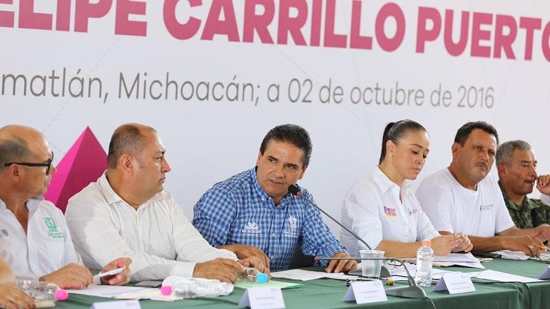 Tan solo en Felipe Carrillo Puerto, municipio de Buenavista, se realizarán alrededor de 35 obras de infraestructura.