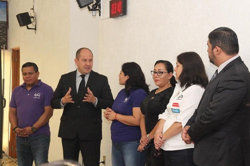 """En la primera actividad denominada """"Yo formo en valores"""" participó la consejera e integrante de la comisión, Elvia Higuera Pérez, así como funcionarios y personal del IEM"""
