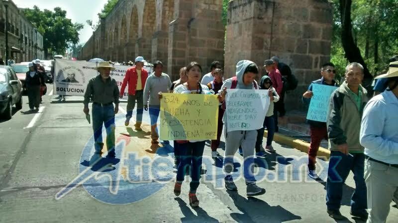 La movilización comenzó en la Plaza Morelos y terminó con un mitin informativo frente a Palacio de Gobierno (FOTO: FRANCISCO ALBERTO SOTOMAYOR)