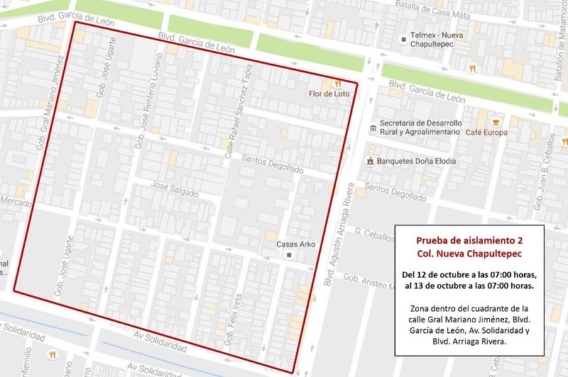 La interrupción del servicio de agua en la colonia Nueva Chapultepec iniciará el miércoles 12 de octubre a las 07:00 horas y concluirá el jueves 13 de octubre a las 07:00 horas